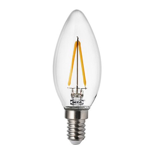 RYET - LED bulb E14 200 lumen, chandelier/clear | IKEA Hong Kong and Macau - PE733486_S4