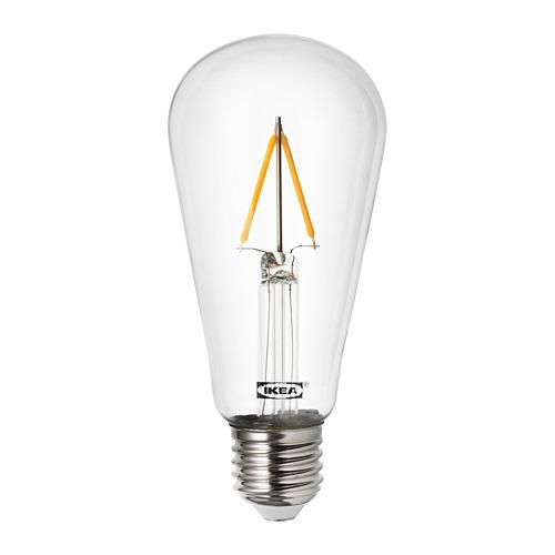 LUNNOM - LED燈膽 E27 100流明, 水滴形 透明 | IKEA 香港及澳門 - PE733506_S4