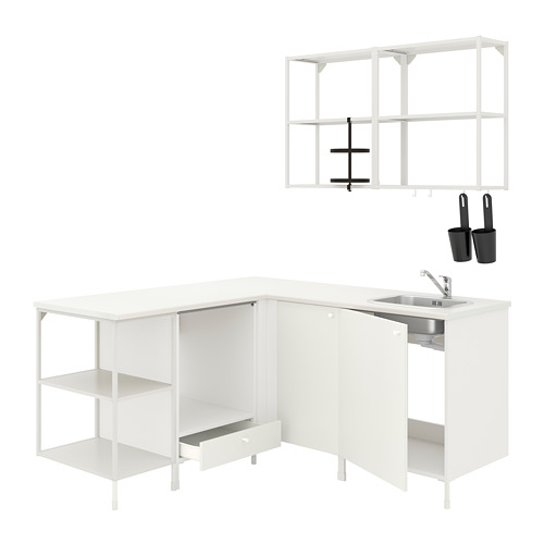 ENHET - 角位廚房, 白色 | IKEA 香港及澳門 - PE775497_S4