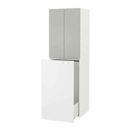 SMÅSTAD - wardrobe with pull-out unit, white grey/with clothing rod | IKEA Hong Kong and Macau - PE788059_S4