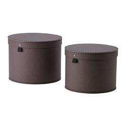 ANILINARE - 連蓋貯物盒 2件套裝, 深褐色 | IKEA 香港及澳門 - PE788076_S3