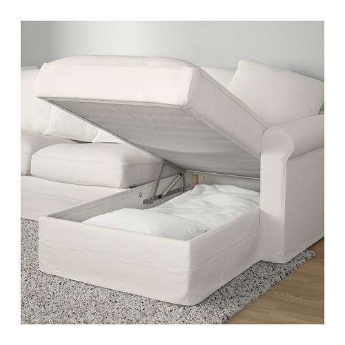 GRÖNLID - corner sofa-bed, 5-seat, with chaise longue/Inseros white | IKEA Hong Kong and Macau - PE690372_S4