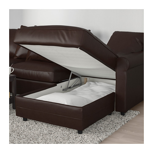GRÖNLID - 3-seat sofa-bed, with chaise longue/Kimstad dark brown | IKEA Hong Kong and Macau - PE690418_S4