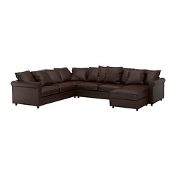 GRÖNLID - corner sofa-bed, 5-seat, with chaise longue/Kimstad dark brown | IKEA Hong Kong and Macau - PE690394_S3