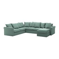 GRÖNLID - 5座位角位梳化床, 連躺椅/Ljungen 淺綠色   IKEA 香港及澳門 - PE690378_S3