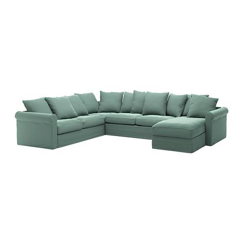 GRÖNLID cover for corner sofa-bed, 5-seat