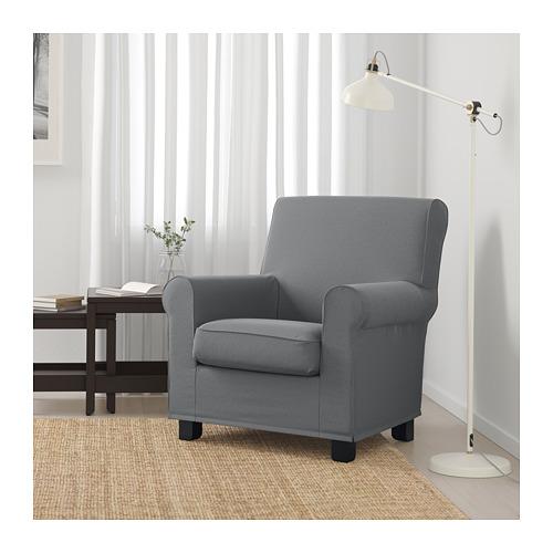 GRÖNLID - 扶手椅, Ljungen 暗灰色 | IKEA 香港及澳門 - PE690452_S4