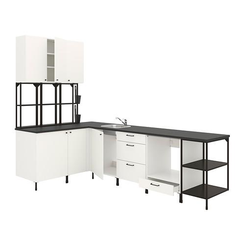 ENHET - 角位廚房, 炭黑色/白色 | IKEA 香港及澳門 - PE775579_S4