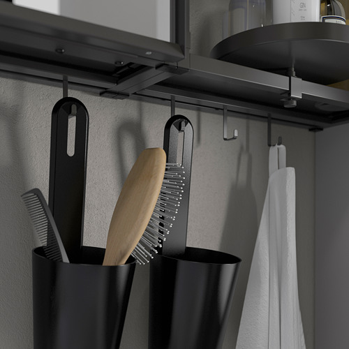 TVÄLLEN/ENHET - 浴室貯物組合 18件裝, grey frame/anthracite Pilkån tap | IKEA 香港及澳門 - PE788141_S4