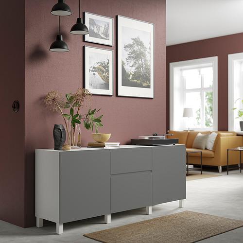 BESTÅ - 貯物組合連抽屜, white/Västerviken/Stubbarp dark grey   IKEA 香港及澳門 - PE832689_S4