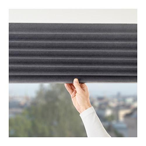 SCHOTTIS - block-out pleated blind, 100x190cm, dark grey | IKEA Hong Kong and Macau - PE643253_S4