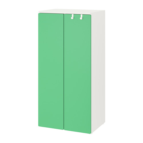 PLATSA/SMÅSTAD - wardrobe, white/green | IKEA Hong Kong and Macau - PE788170_S4