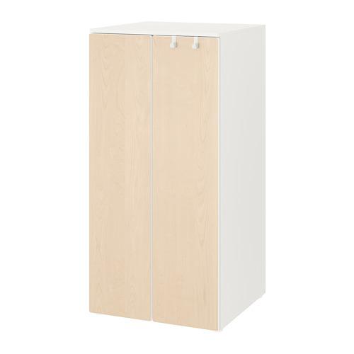 PLATSA/SMÅSTAD - 衣櫃, 白色/樺木 | IKEA 香港及澳門 - PE788175_S4