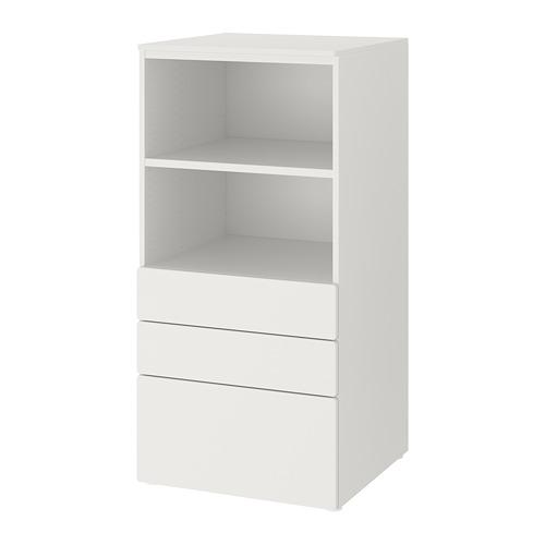PLATSA/SMÅSTAD - bookcase, white white/with 3 drawers | IKEA Hong Kong and Macau - PE788191_S4