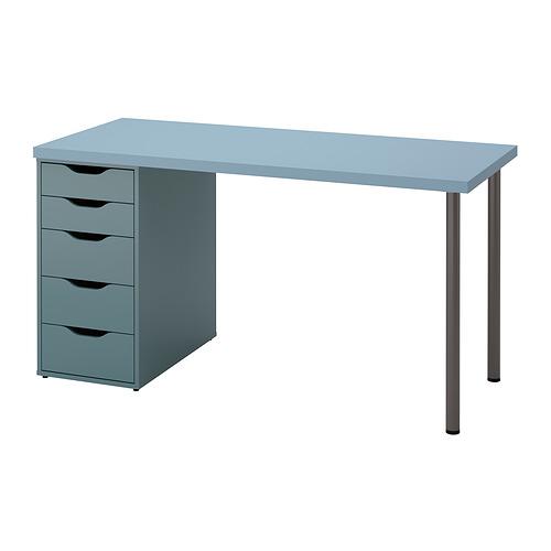 ALEX/LAGKAPTEN - 書檯, 淺藍色/灰湖水綠色 | IKEA 香港及澳門 - PE832730_S4