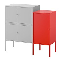 LIXHULT - cabinet combination, grey/red | IKEA Hong Kong and Macau - PE690612_S3