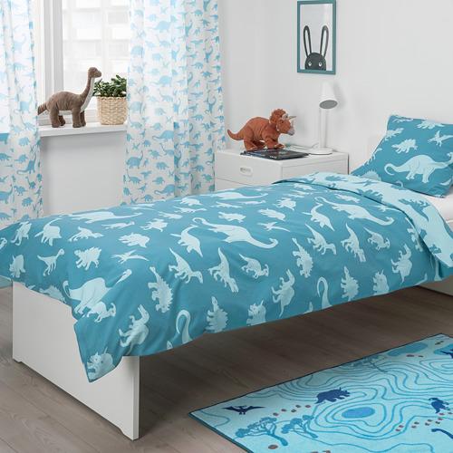 JÄTTELIK - quilt cover and pillowcase, dinosaur/blue | IKEA Hong Kong and Macau - PE775656_S4