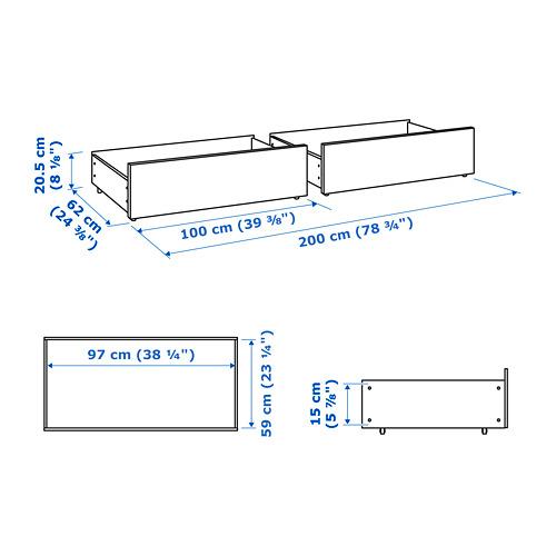 MALM - 床底貯物箱,加大雙人/加特大雙人床架用 | IKEA 香港及澳門 - PE733670_S4