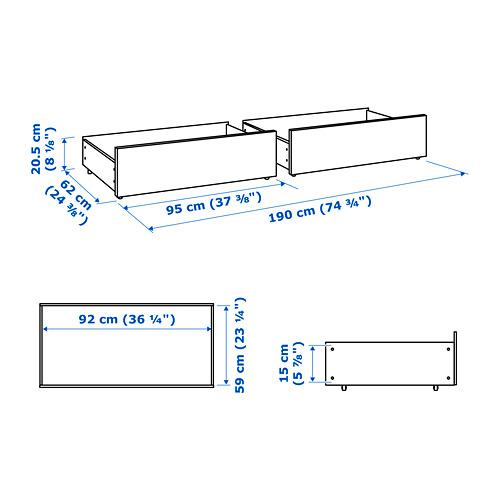 MALM - 床底貯物箱,雙人床架用 | IKEA 香港及澳門 - PE733672_S4