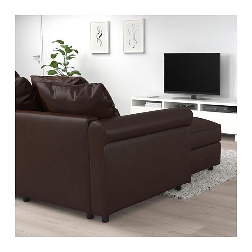 GRÖNLID - 三座位梳化床, 連躺椅/Kimstad 深褐色   IKEA 香港及澳門 - PE690798_S4