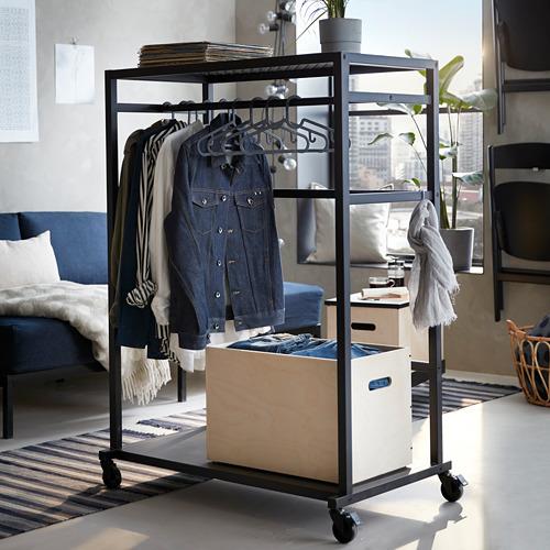 RÅVAROR - storage unit on castors, black | IKEA Hong Kong and Macau - PE788267_S4