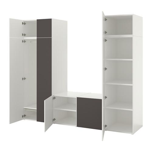 PLATSA wardrobe with 8 doors