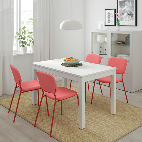 LANEBERG/KARLJAN - table and 4 chairs, white/red red | IKEA Hong Kong and Macau - PE733778_S4