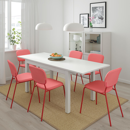 LANEBERG/KARLJAN - table and 4 chairs, white/red red | IKEA Hong Kong and Macau - PE733777_S4