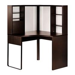 MICKE - corner workstation, width 100 x depth 100cm, black-brown | IKEA Hong Kong and Macau - PE516623_S3