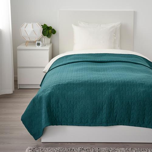 KÖLAX - bedspread, dark green   IKEA Hong Kong and Macau - PE733855_S4