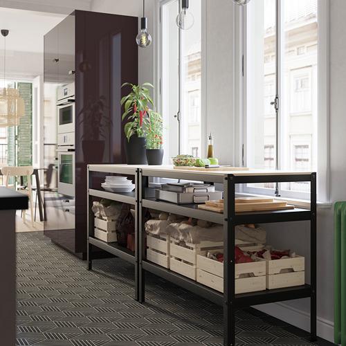 BROR - 工作檯, 55x110x88 cm, 黑色/松木夾板   IKEA 香港及澳門 - PH168029_S4
