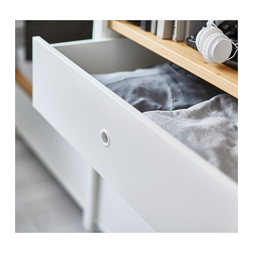 ELVARLI - 5 sections, white/bamboo | IKEA Hong Kong and Macau - PH136123_S4