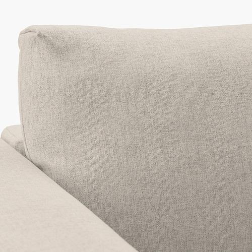 VIMLE - 3-seat sofa-bed with chaise longue, Gunnared beige | IKEA Hong Kong and Macau - PE641656_S4