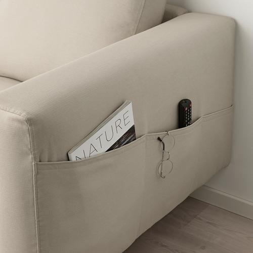 NORSBORG - 3-seat sofa, with chaise longue/Edum beige/metal | IKEA Hong Kong and Macau - PE659276_S4