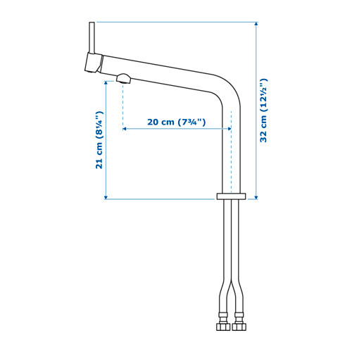 BOSJÖN - kitchen mixer tap, stainless steel colour   IKEA Hong Kong and Macau - PE643673_S4