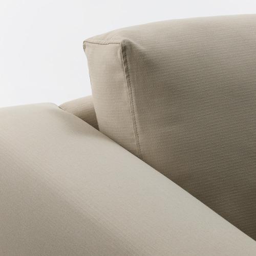 NORSBORG - 3-seat sofa, with chaise longue/Edum beige/metal | IKEA Hong Kong and Macau - PE659281_S4