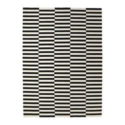 STOCKHOLM - rug, flatwoven, handmade/striped black/off-white | IKEA Hong Kong and Macau - PE643765_S3