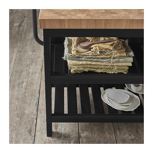 VADHOLMA - kitchen island, black/oak | IKEA Hong Kong and Macau - PH152395_S4