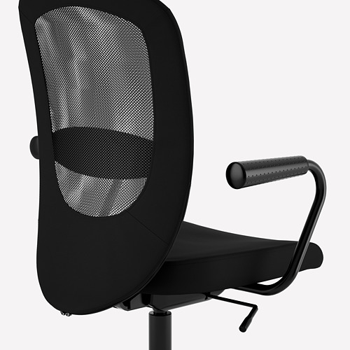 FLINTAN/NOMINELL - office chair with armrests, black | IKEA Hong Kong and Macau - PE733930_S4