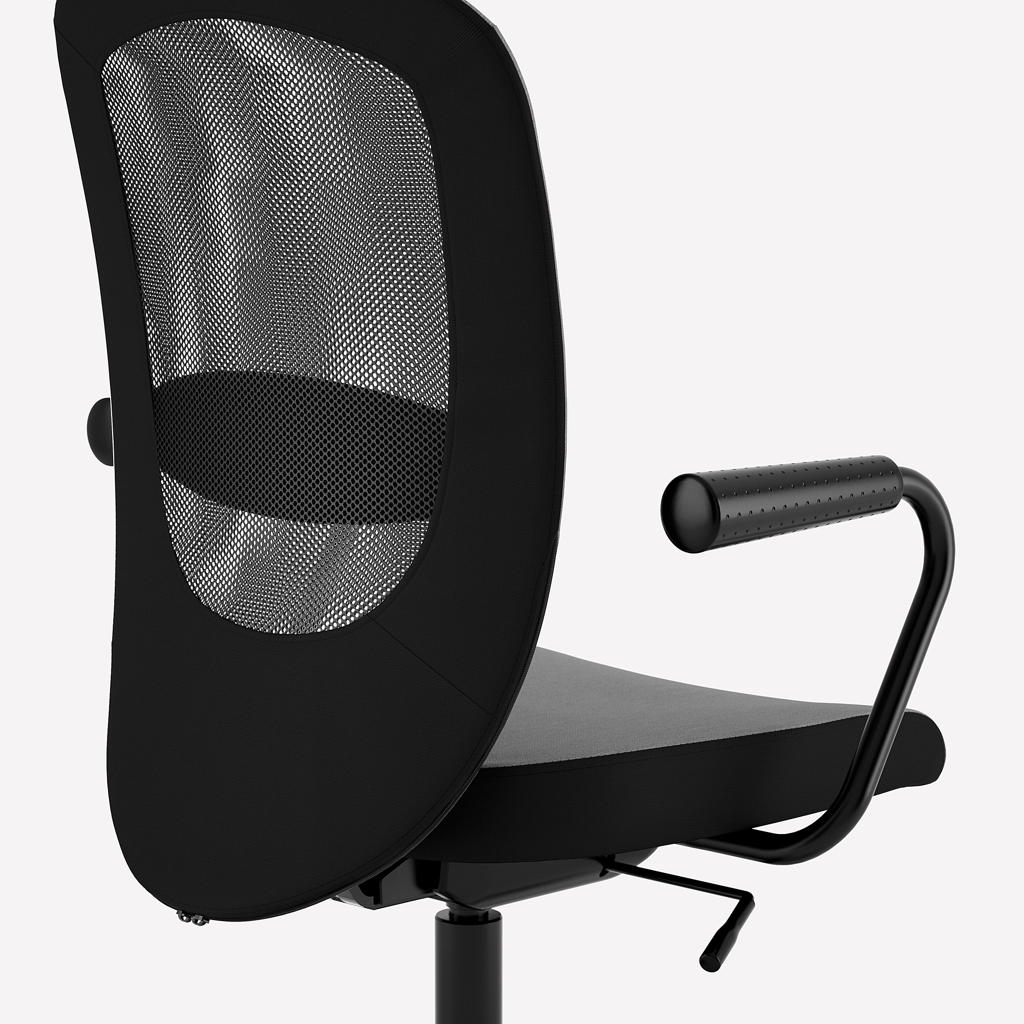 FLINTAN/NOMINELL - Office Chair With Armrests, Grey
