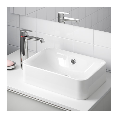 HÖRVIK - 櫃台板用洗手盆, 白色   IKEA 香港及澳門 - PE643805_S4