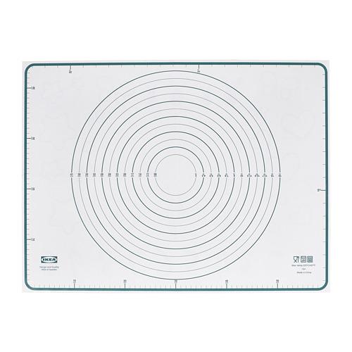 BAKTRADITION - baking mat, white/turquoise | IKEA Hong Kong and Macau - PE790773_S4