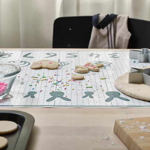 BAKTRADITION - baking mat, white/turquoise | IKEA Hong Kong and Macau - PE790780_S4