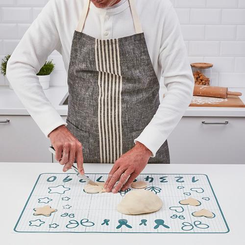 BAKTRADITION - baking mat, white/turquoise | IKEA Hong Kong and Macau - PE790777_S4