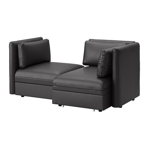 VALLENTUNA - 兩座位組合式梳化連梳化床, and storage/Murum black   IKEA 香港及澳門 - PE691201_S4
