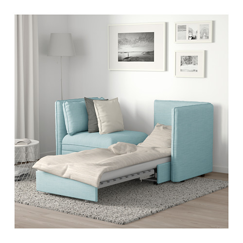 VALLENTUNA 2-seat modular sofa with sofa-bed