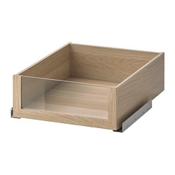 KOMPLEMENT - drawer with glass front, white stained oak effect   IKEA Hong Kong and Macau - PE691241_S3