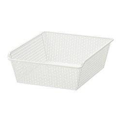 KOMPLEMENT - metal basket, patterned/white | IKEA Hong Kong and Macau - PE691246_S3