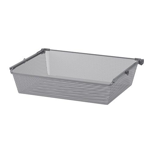 KOMPLEMENT - mesh basket with pull-out rail, dark grey | IKEA Hong Kong and Macau - PE691249_S4