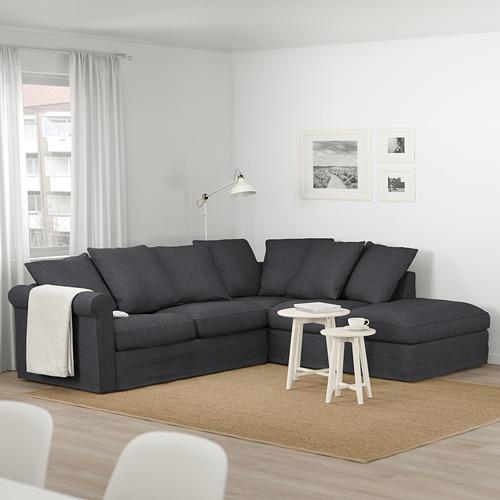 GRÖNLID - 四座位角位梳化, 開放式/Sporda 深灰色 | IKEA 香港及澳門 - PE674998_S4